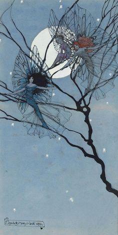 "thefae: "" Moon Fairies by Elizabeth Mary Watts """