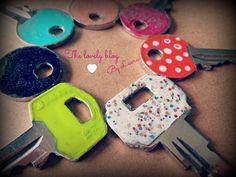 DIY: LLaves decoradas - decorated keys