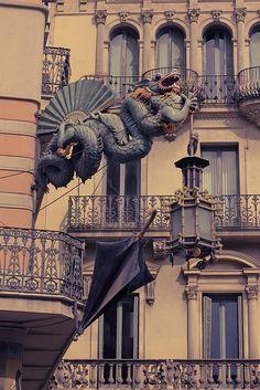 Ramblas Dragon #Architecture #Barcelona
