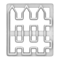 Self-Conscious Fmm Cutter Picket Fence Cake Icing Fondant Cutting Tool House Garden Decoration Kitchen, Dining & Bar