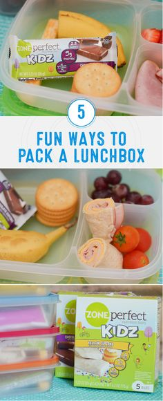 When it comes to mixing up your kids' lunchboxes, it never hurts to have extra meal inspiration! Check out these 5 Fun Way to Pack a Lunchbox for new ideas and snacks to include when meal prepping. With a variety of different flavors, the ZonePerfect® Kidz Nutrition Bars make a delicious—and smart—addition!