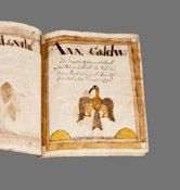 Important Handdrawn Ink and Watercolor Birth Record Book, Columbiana County, Ohio, 1810