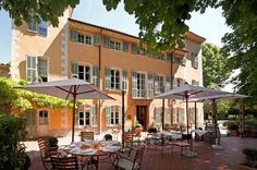 Hostellerie de l'Abbaye de La Celle, France.  Alain Ducasse has a restaurant here. Fodors top 100 hotels 2013.