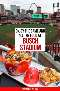 When you travel to St. Louis don't miss a chance to visit Busch Stadium. Even if you're not a baseball fan you will marvel at the history of this iconic field. While you're there be sure to sample all the eats from classic baseball fare to fine dining. You'll also be treated to a unique view of downtown St. Louis while you're there. The area around the stadium is a sports fans paradise with bars and restaurants a plenty to watch any game you wish to see. #BuschStadium #Cardinals #VisitStLouis