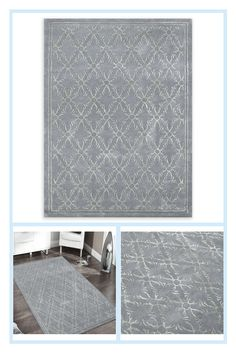 Amer Serendipity Transitional 2' X 3' Accent Rug In Blue - Undeniably elegant and stylish, the Amer Serendipity Rug is a modern art piece for your floor. This transitional rug features an eye-catching geometric pattern in pewter, and is hand-tufted from a wool blend for a truly luxurious feel. Transitional Rugs, Rug Features, Accent Rugs, Serendipity, Pewter, Wool Blend, Modern Art, Art Pieces, Area Rugs