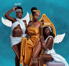 Black Girl Art, Black Women Art, Black Art, Art Girl, Black Girls, Fantasy Angel, Fantasy Art, Black Disney Princess, African American Artwork