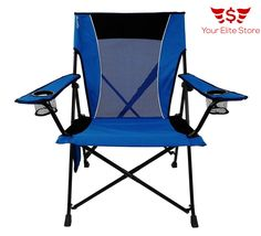 Portable Folding Picnic Chair Beach Camping Fishing 2 Cup Holders Mesh Pockets   Sporting Goods, Outdoor Sports, Camping & Hiking   eBay!