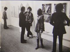 "iggyinuit: "" Another picture of Syd Barrett visiting a video art exhibition in Stockholm, 1967. Nothing came out of the proposition from Andrew King to work together on a project, though. The barefoot..."