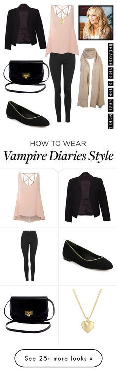 """""""inspired by caroline forbes"""" by johanna2610 on Polyvore featuring Topshop, Glamorous, Theory, Diane Von Furstenberg and Finn"""