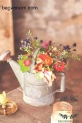 spring wedding Philadelphia Old-World Wedding Inspiration Shoot Ruffled Simple Flowers, Fresh Flowers, Beautiful Flowers, Diy Flowers, Centerpiece Flowers, Watering Can Centerpieces, Centerpiece Ideas, Fall Flowers, Colorful Flowers
