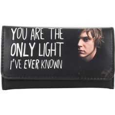 Hot Topic American Horror Story Tate Wallet ($11) ❤ liked on Polyvore featuring bags, wallets, black, american wallet, american bags and flap wallet