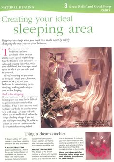 Creating Your Ideal Sleep Area - page 1