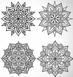 4 weitere Mandalas – Coloring pages - Malvorlagen Mandala Mandala Art, Mandala Design, Manga Mandala, Geometric Mandala Tattoo, Mandalas Painting, Mandalas Drawing, Jewel Tattoo, Graffiti Tattoo, Tattoo Stencils