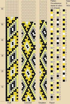 8 around tubular bead crochet rope pattern Bead Crochet Patterns, Bead Crochet Rope, Beaded Jewelry Patterns, Beading Patterns, Crochet Beaded Bracelets, Bead Jewellery, Brick Stitch, Beads And Wire, Loom Beading
