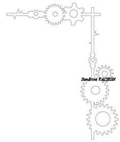 FICHIER SILHOUETTE STUDIO (60 bordure engrenages)