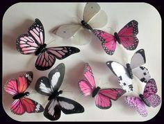 Decora las paredes de un dormitorio infantil o algún rincón de la casa con mariposas de papel hechas con tus propias manos.