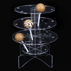 3-Tier 18 Holes Acrylic Cake Pop Lollipop Cupcake Display Stand Holder US STOCK2 #