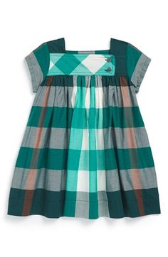 Burberry 'Paisley' Check Print Dress (Baby Girls) #designer