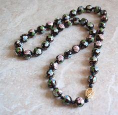 10 Black Cloisonné Hand Painted Beads for all European style Charm Bracelets