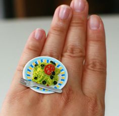 Kawaii Japanese Miniature Food Ring  by fingerfooddelight on Etsy, $10.00