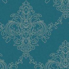 Ravelle Petrol Blue Wallpaper