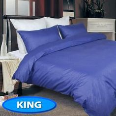 Embossed King Micro Fibre Quilt Cover Set - Violet Quilt Cover Sets, Comforters, King, Quilts, Blanket, Bed, Home, Creature Comforts, Duvet Cover Sets