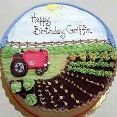 Farmers birthday cake