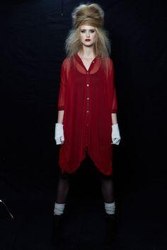 Avant Garde Beehive - Styled by KTIZO Hair & Skin Red Leather, Leather Jacket, Beehive, Jackets, Hair, Style, Fashion, Studded Leather Jacket, Down Jackets