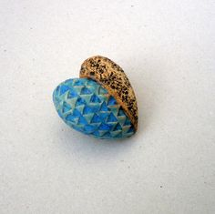 Turquoise Ceramic Heart Valentines Gift Rustic by BlueMagpieDesign, $15.75
