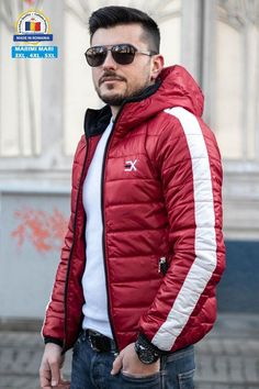Geaca Exclusive Visiniu - Alb Winter Jackets, Casual, Fashion, Style, Winter Coats, Moda, Winter Vest Outfits, Fashion Styles, Fashion Illustrations