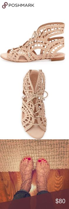 Joie lace up gladiator sandals size 7.5 Barely worn Joie lace up gladiator sandals in nude. I've worn once they're in like-new condition. Size 7.5. Reasonable offers welcome:) Joie Shoes Sandals