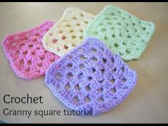 How to crochet a granny square for beginners   Bella Coco - YouTube
