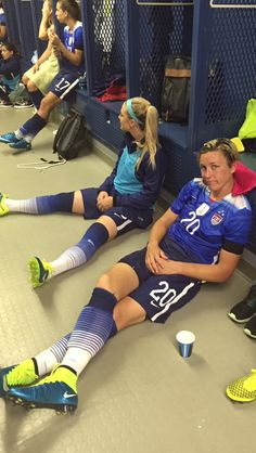 Abby Wambach waits out a weather delay during the second #VictoryTour match against Costa Rica at Finley Stadium in Chattanooga Tennessee - August 19, 2015