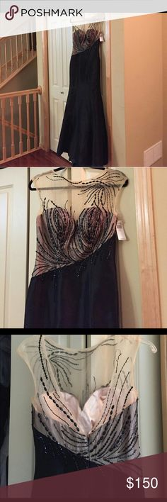 Prom dress Fit and flair mermaid style never used to tight on my hips few beads loses mac duggal Dresses Prom