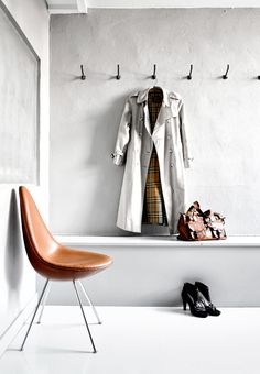 Cognacfarvet Dråbe-stol