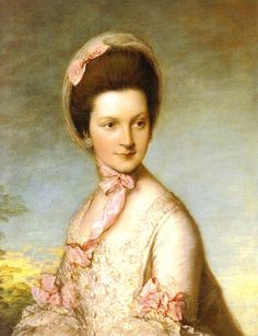 """Henrietta Grosvenor, Countess  Grosvenor, née Vernon (+1828)  by Gainsborough - Henrietta Vernon, daughter of Henry Vernon of Hilton Park, Staffordshire. Henrietta had an affair with Henry, Duke of Cumberland, the younger brother of George III. The couple were discovered in flagrante delicto in 1769, which led to Grosvenor bringing an action against the Duke for """"criminal conversation"""" (that is, adultery)."""