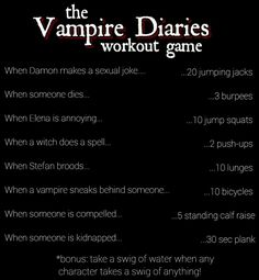 The Vampire Diaries workout game