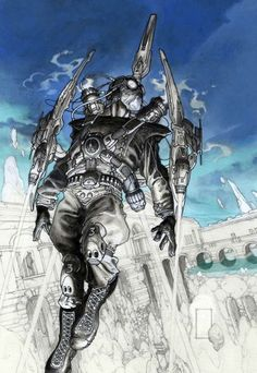 Looks like a steampunk War Machine : Mantova Comics 2008 poster by Simone Bianchi °°