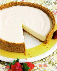 No-Bake Cheesecake. Dit wil ik wel eens proberen met dit warme weer!