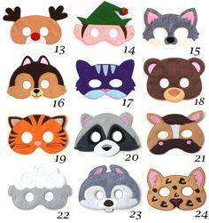 Pick Any Kids Mask Kids Mask Felt Mask Kids Face by BabyWhatKnots
