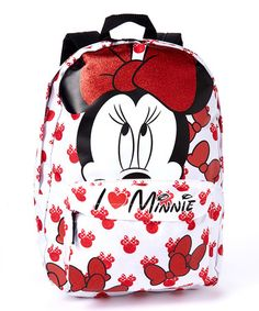 Love this Red Bow Minnie Mouse Backpack by Minnie Mouse on #zulily! #zulilyfinds