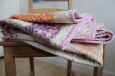 Soft Florals Quilt  Baby by grockenwagner on Etsy
