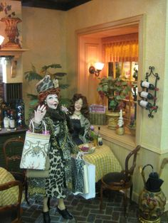 Le Petite Bouchon wine bar - Marcia Backstrom Dolls