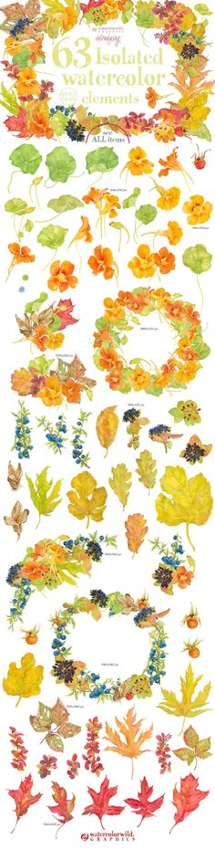 0405 Indian Summer by watercolorwild.graphics on @creativemarket