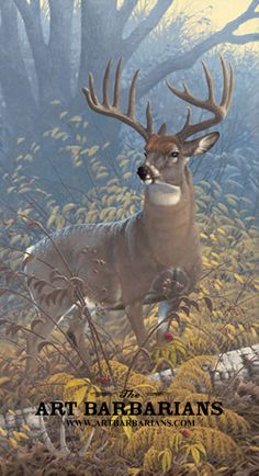 Backyard Buck Painting by Michael Sieve Wildlife Paintings, Wildlife Art, Animal Paintings, Animal Drawings, Deer Paintings, Original Paintings, Whitetail Deer Pictures, Deer Photos, Deer Pics