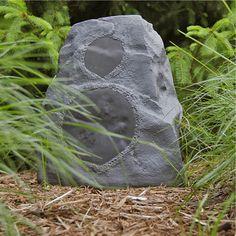 Klipsch Indoor/Outdoor Speaker - Granite (Each) Best Outdoor Bluetooth Speakers, Rock Speakers, Tiki Torches, Palm Of Your Hand, Household Items, Decoration, Indoor Outdoor, Garden Sculpture, Backyard