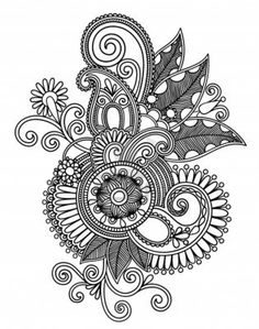 Drawing Art Flower | kids drawing coloring page