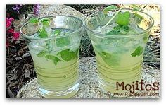 Simple recipe for classic Mojitos, using fresh lime juice and fresh mint. Sweet and sour cocktail heaven. Sour Cocktail, Cocktail Drinks, Cocktail Recipes, Party Drinks, Fun Drinks, Beverages, Party Shots, Liquor Drinks, Drinks Alcohol