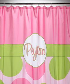 Make bath time more fun with a personalized shower curtain that keeps splashes in the tub and brightens up the bathroom.