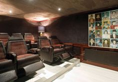 The cinema room aboard luxury yacht Force Blue - Fraser Yachts